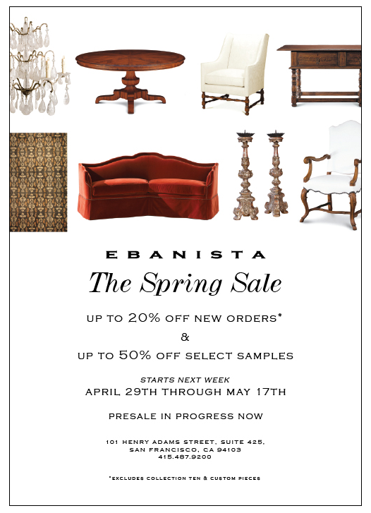 SF Ebanista Spring Sale (2)