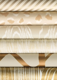 Oblique Paper in Gold/Ivory GWP-3308-46, Feline Paper in Beige/Ivory GWP-3306-116 Agate Paper in Pearl/Beige GWP-3307-116, Currents Paper in Gold/Ivory GWP-3305-41 Channels Paper in Copper/Beige GWP-3302-424, Crescent Paper in Gold/Ivory GWP-3304-416